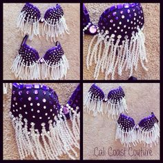 Purple Dripping Ice Crystals Bra by Cali Coast Couture. To order contact calicoastcouture@gmail.com
