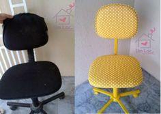 Um lar...: Antes e depois: Minha cadeira amarelinha de poás! (PAP)                                                                                                                                                                                 Mais