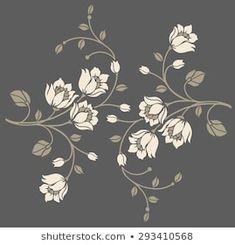 Stock Photo and Image Portfolio by Flower design sketch gallery Flower Motif, Flower Prints, Flower Art, Flora Design, Motif Design, Stencil Painting, Fabric Painting, Paint Designs, Designs To Draw