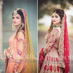 Mehndi look or Barat look ? Bride of the day💕 Mua Asian Bridal Dresses, Bridal Mehndi Dresses, Bridal Dress Design, Wedding Dresses For Girls, Pakistani Wedding Dresses, Bridal Outfits, Bridal Lehenga, Beautiful Bridal Makeup, Beautiful Bride