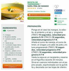 Sopa freda de mango