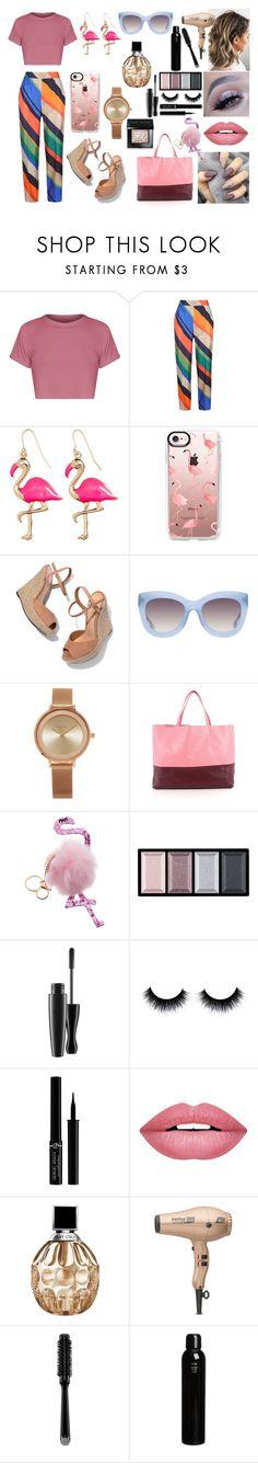 """Flamingo"" by nicks-1 on Polyvore featuring moda, ESCADA, Casetify, Schutz, Alice + Olivia, SO & CO, SPECIAL DAY, CÉLINE, Clé de Peau Beauté e Giorgio Armani"