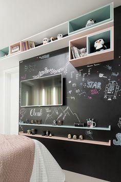 Apartamento de viajantes une praticidade e elementos contemporâneos Cozy Teen Bedroom, Teen Bedroom Designs, Baby Bedroom, Bedroom Decor, Bedroom Ideas, Welcome To My House, Home Room Design, New Room, House Rooms