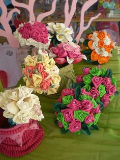 Bouquet di fiori realizzati con palloncini