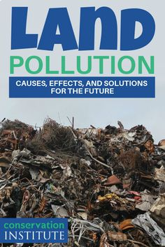 Land pollution is a serious issue our planet is facing. In this article, we'll discover the types of land pollution, why it is harming the environment, and solutions to this problem. #LandPollutionFacts #LandPollutionCauses Water Pollution Facts, Ocean Pollution, Global Warming Solutions, Environmental Posters, Conservative Quotes, Global Warming Climate Change, Nature Aesthetic, Conservation, How To Dry Basil
