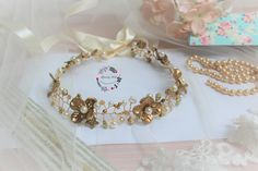 Floral Crown, Pearl Bridal Tiara, Bridal Diadem, Crystal Crown, Bridal Crown, Tiara Hairpiece, Wedding Hair Accessory, Hair Floral Vine