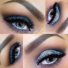 makeup. The white water line makes the eye look amazing!