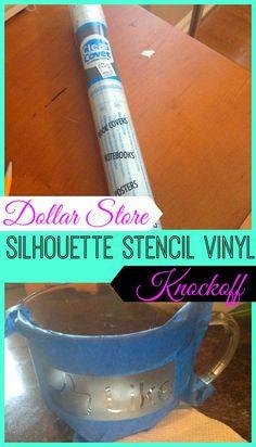 Dollar Store Stencil 'Vinyl' Material for Silhouette