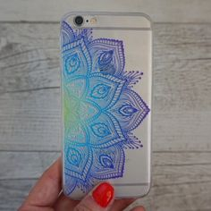 Blue Tropics Flower Paisley Soft TPU Mobile Phone Case for iPhone