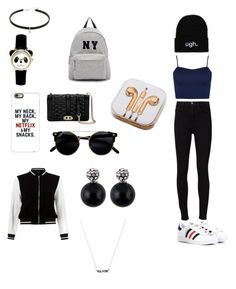 """""""I Think Of You """" by johnnyeamanda on Polyvore featuring WearAll, Frame Denim, adidas, Joshua's, Casetify, New Look, Rebecca Minkoff and PhunkeeTree"""