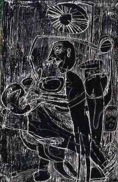 Jean Dubuffet (1901-1985) was een Frans kunstenaar. Hij verwerkte ook asfalt, plastic en gebroken glas in zijn schilderijen. Jean Dubuffet had een grote belangstelling voor tekeningen van kinderen, geestelijk minder begaafden en gedetineerden. Hiervan legde hij een grote verzameling aan. Hij noemde deze kunst Art Brut. Later werd het werk van Dubuffet en dat van zijn volgers aangeduid met deze term. - Dentiste