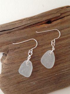 Ohrringe - 925 Silber Seeglas Ohrrin - ein Designerstück von MeerSchmuck bei DaWanda