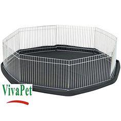 VivaPet Octagon Rabbit/Puppy/Hamster/Guinea/Pig/Cat/Kitten Run Cage Pen with 8-Panel, Small, 34-Inch