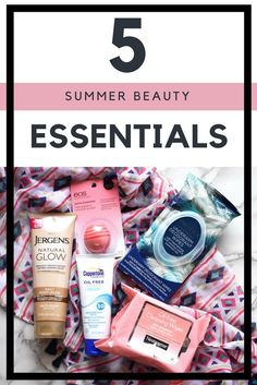 Now that July is here, my family and I are finding ourselves outside more which means I have to keep my bag stocked with summer beauty essentials at all times.  Check out my 5 favorite summer beauty essentials!