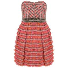 Fringed Cocktail Weave Corset Dress #matthew_williamson #dress