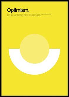 Optimism Poster i gruppen Posters / Grafiskt hos Desenio AB Graphic Pattern, Graphic Design Fonts, Graphic Art Prints, Poster Design, Typography Prints, Graphic Design Illustration, Graphic Designers, Text Poster, Gold Poster