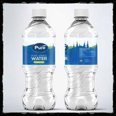 Spring Water Bottle, Best Water Bottle, Water Bottle Labels, Bottled Water, Water Packaging, Water Branding, Food Packaging, Packaging Design, Plastic Bottle Design