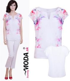 Elegantná letná dámska blúzka– trendymoda.sk Peplum, V Neck, Jar, Blouses, Women, Fashion, Moda, Fashion Styles, Blouse