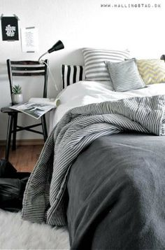 | monochrome - bedroom |  www.2findanddesign.com @2findanddesign