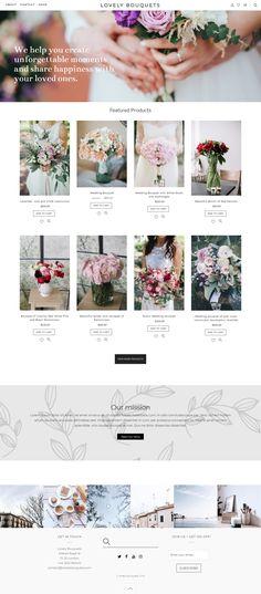 E-commerce website design for Wordpress