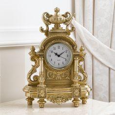 Orologio da tavolo stile Barocco foglia oro