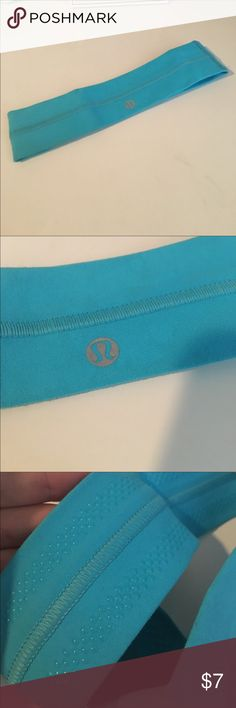 lululemon headband blue, has grips on the inside! lululemon athletica Accessories Hair Accessories