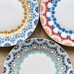Dot Art Painting, Mandala Painting, Pottery Painting, Mandala Art, Dots Design, Zentangle, I Card, Artsy, Homemade