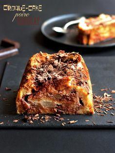 Recette de croque cake sucré poire chocolat / Croque cake recipe pear and chocolate