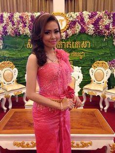 Cambodia wedding dress, #khmer #Bride # traditional dress.