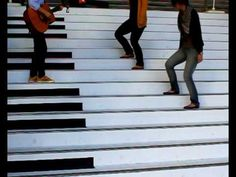Piano stairs song.this was a marvellos which design to have great experineced and enjoy through walking stairs .