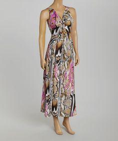 Look what I found on #zulily! 3R Street Wear Beige & Purple Jungle Vanessa Maxi Dress by 3R Street Wear #zulilyfinds