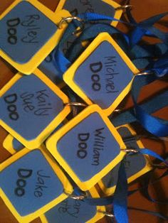 Dog tags for a Scooby Doo party