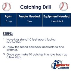 Have two or more little t-ball players?  Practice catching with this simple drill.  #tball #youthsports #i9Sports