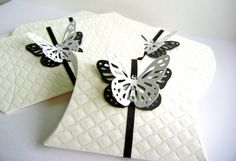 Pillow Favor Gift Box  White Emboss Quilt by MademoiselleAdriana, of course mine will be blue butterflies ;))))