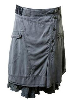 No tutorial.  Just a great idea to revamp some old pants!
