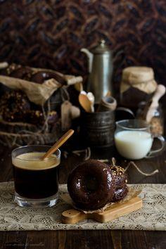 Donuts de Nutella con Nutella (al horno)