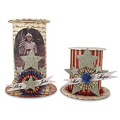 Americana Hat Containers