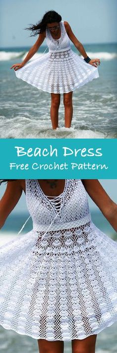 Summer Dress Free Crochet Patterns – Round up by Krazykabbage #crochet #freepattern #summerstyle #beach