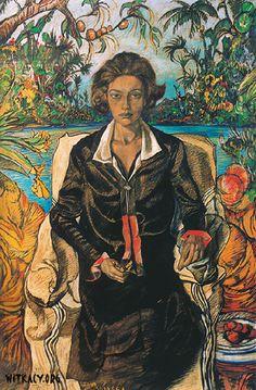 """""""Jadwiga Witkiewiczowa"""" by Stanisław Ignacy Witkiewicz (Witkacy), 1925"""