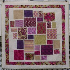 I love the idea of preserving the look of fabric by keeping the blocks large on this quilt.