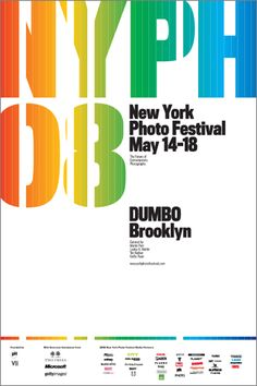 Pentagram  Client New York Photo Festival  Identity and a series of posters for the inaugural photo festival.