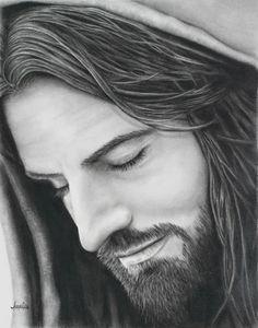 Images Of Christ, Pictures Of Jesus Christ, Jesus Christ Painting, Jesus Art, Just Pray, Portrait Sketches, Catholic Art, Artist Gallery, Fine Art