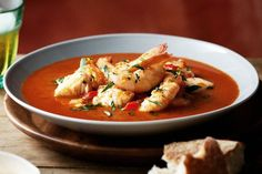 Caldereta (Spanish seafood stew) I subbed Oysters for the scallops & used catfish. SUPERB!