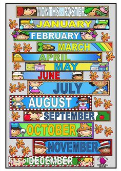 Months Of The Year Printables | It S A Poster To Teach The Months Of ...