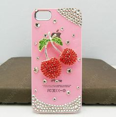 red Fruits pink case iphone logo case Fashion case by dnnayding, $20.99