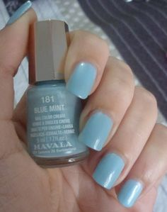 Mavala nail polish in 181 blue mint