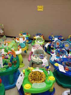 2013 Fall KID MANIA Hall 4 - Exersaucers and Walkers.  www.KidManiaSale.com