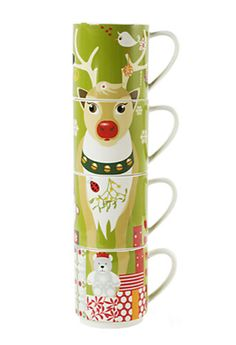 Hot cocoa mug set! #reindeer #hotchocolate