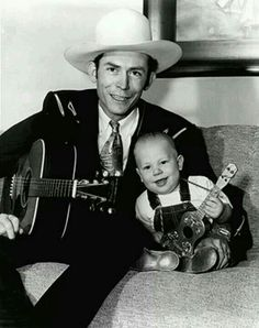 Here is Hank Williams Jr. with Hank Williams Sr. when Jr. Bocephus celebrates his Birthday today. Old Country Music, Outlaw Country, Country Music Artists, Country Music Stars, Country Singers, Country Men, Country Life, Country Living, Hank Williams Jr