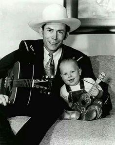 Hank Williams and little Hank Williams Jr.